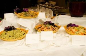 Algunos de los platillos que se ofrecieron en la boda. Foto: http://simplyvegan10.blogspot.ca/