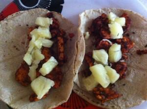 tacos pastor veganos