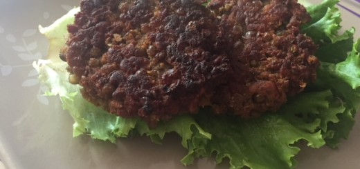 como hacer hamburguesas de lenteja