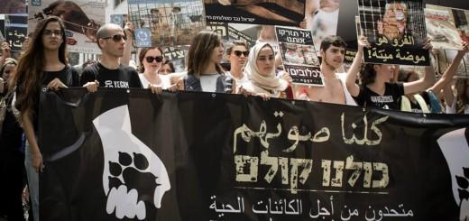 arabes y judios marchan juntos por el veganismo